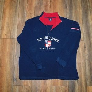 Vintage U.S. Polo Assn. spell out sweathirt